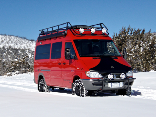 "Sprinter 2003-2006 SWB High Roof - Double Loop - Low Profile - 98"" Long - Slats w/ 2.5"" Gap"